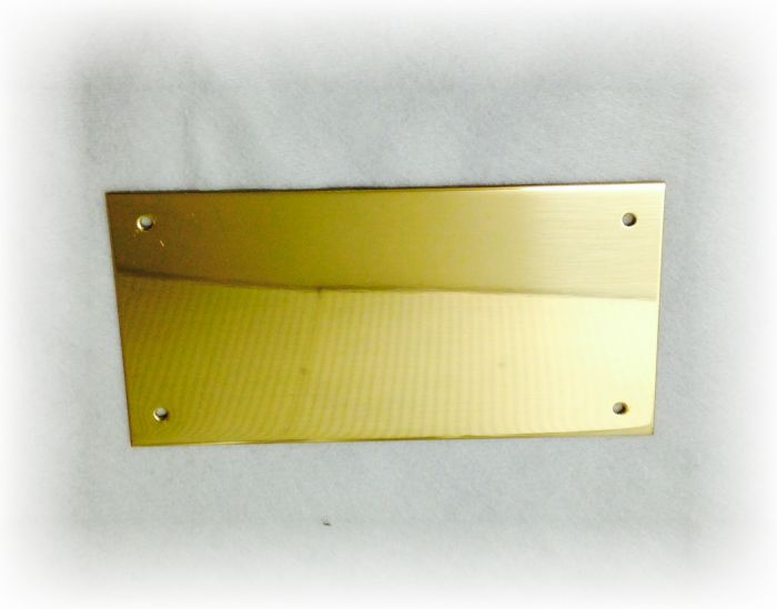 4 x 2 Solid Brass Name plate
