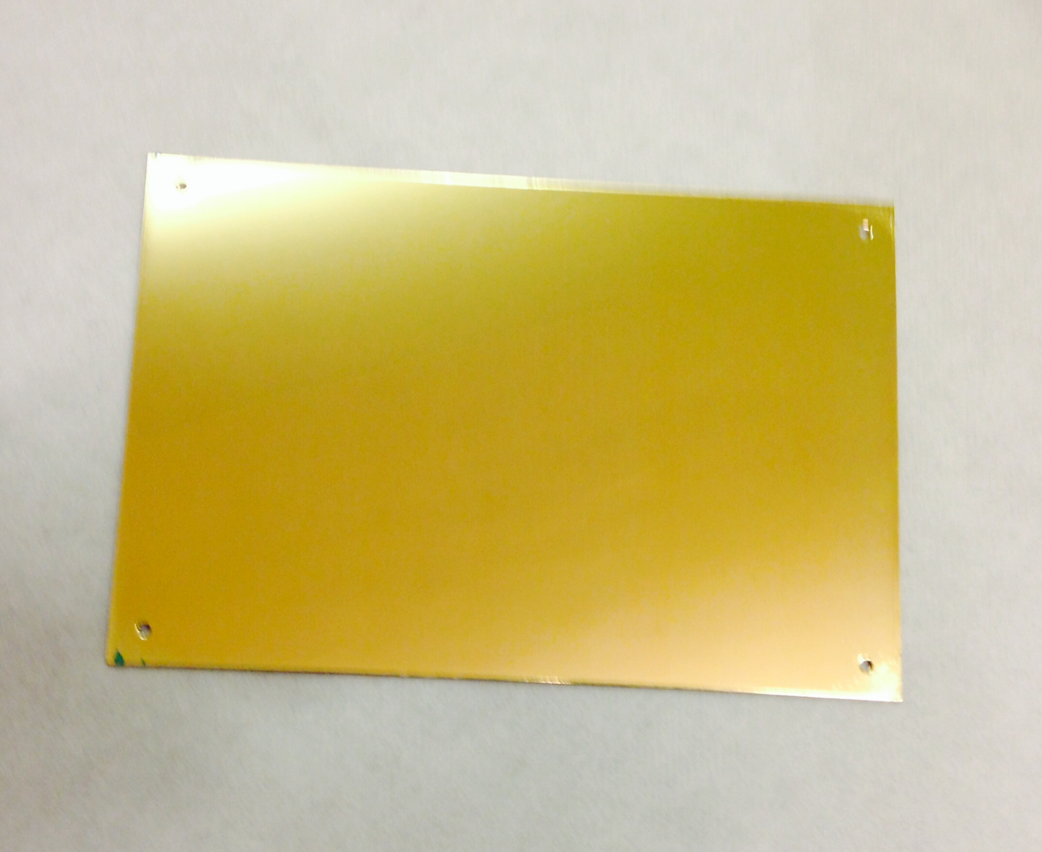 6x4 inch 10G Metal Name Plate