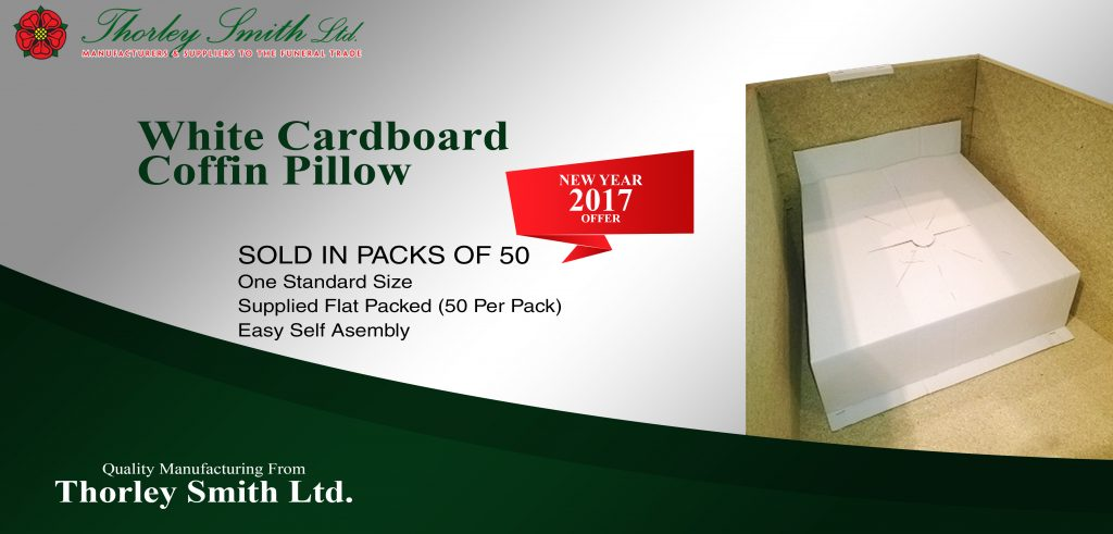 White Cardboard Coffin Pillow