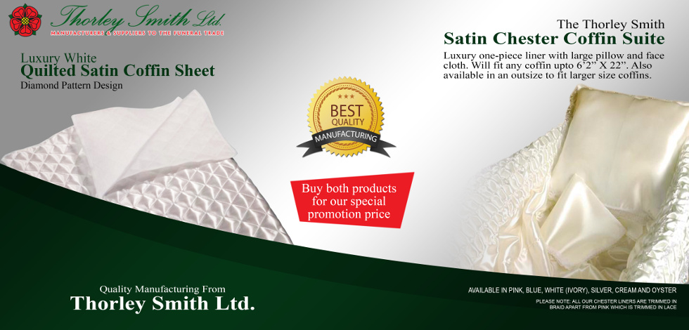 Satin Chester Suite plus White Quilted Satin Coffin Sheet