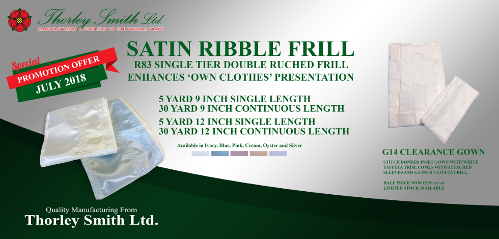 Thorley Smith - Satin Ribble Frill + G14 Gown Offer