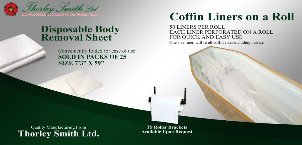 Disposable body removal sheet and coffin liners on a roll