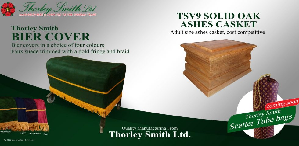 Bier Cover and the TSV9 solid oak ashes casket